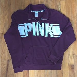 PINK maroon quarter zip